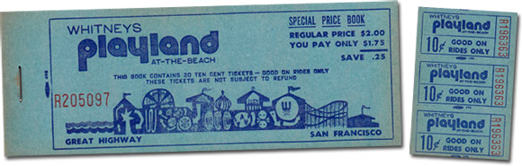 Tickets from Playland at the Beach