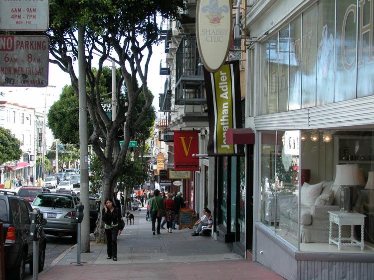 Fillmore Street Restaurants Pacific Heights