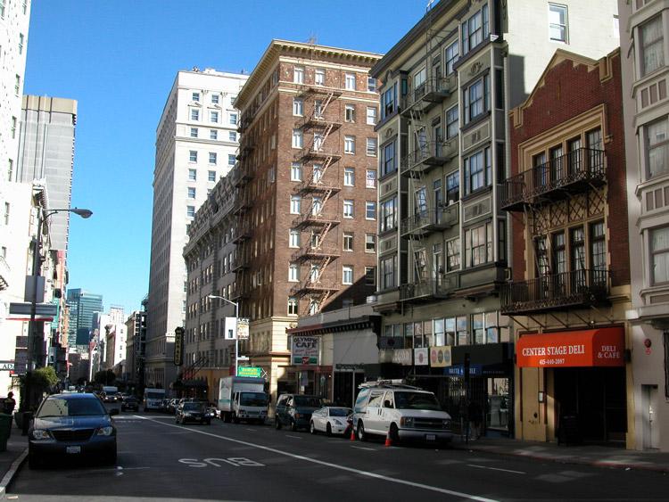 Looking East On Geary Street