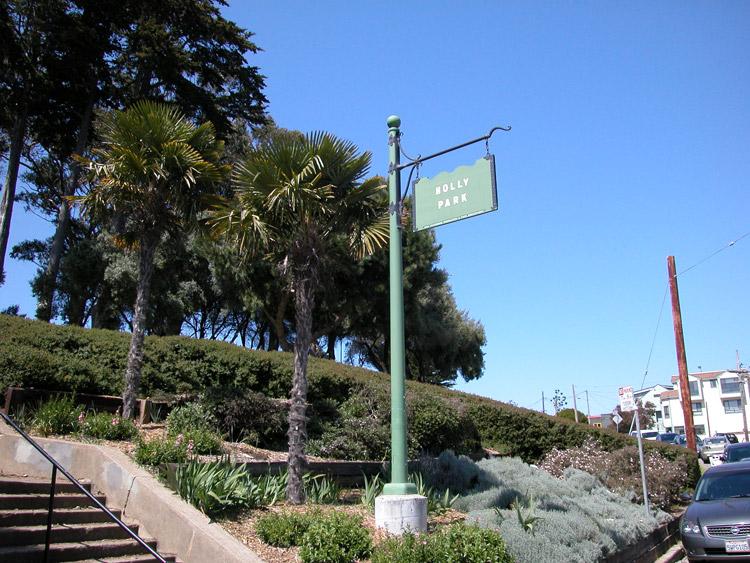 Bernal heights san francisco neighborhoods holly park entrance at holly park circle near park street publicscrutiny Images