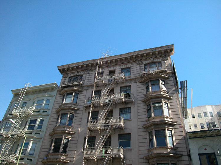 Apartment Buildings In The Tenderloin