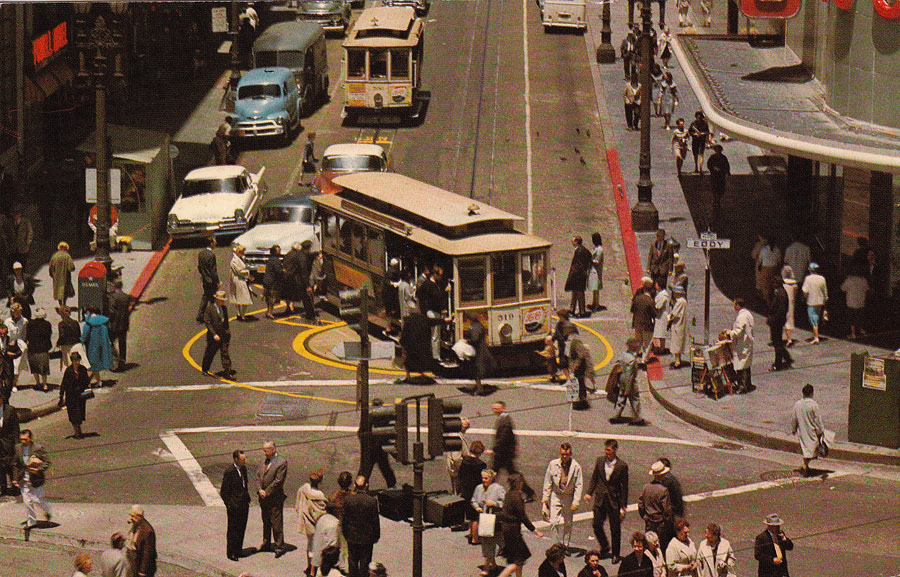 Postcards From San Francisco Powell Street